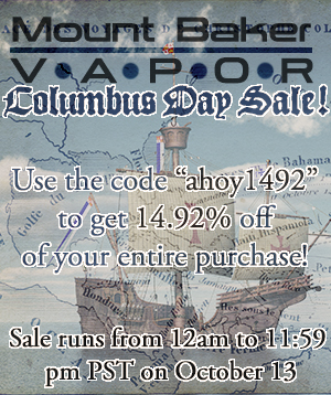 mt baker vapor columbus day coupon
