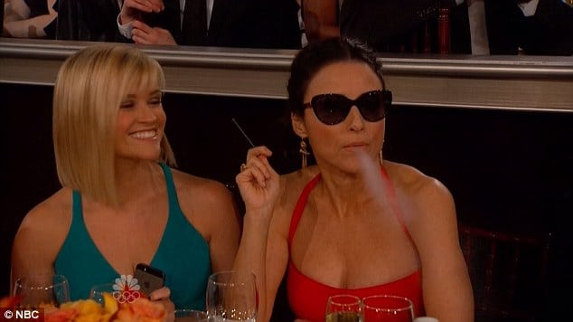 Celebrities Vape At Golden Globes
