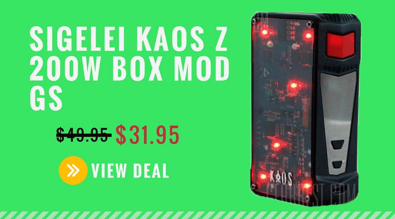 SIGELEI KAOS Z 200W BOX MOD GS  Deal