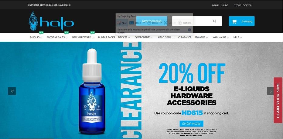 Halo Cigs Web Page