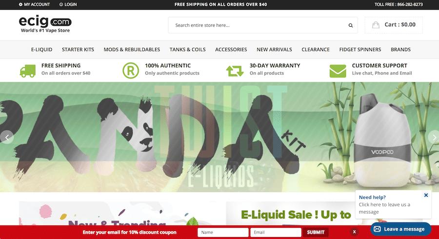 Ecig.com Store Page